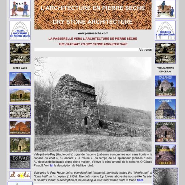 L'architecture de pierre sèche / dry stone architecture