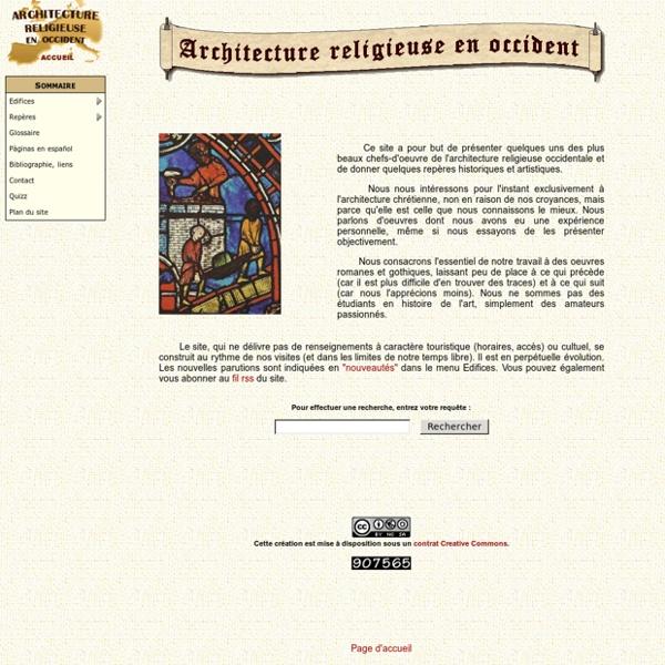 Architecture Religieuse en Occident - Accueil