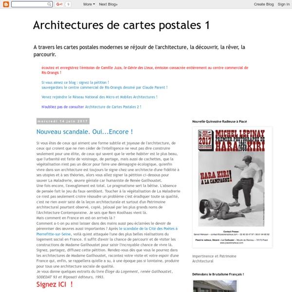 Architectures de cartes postales