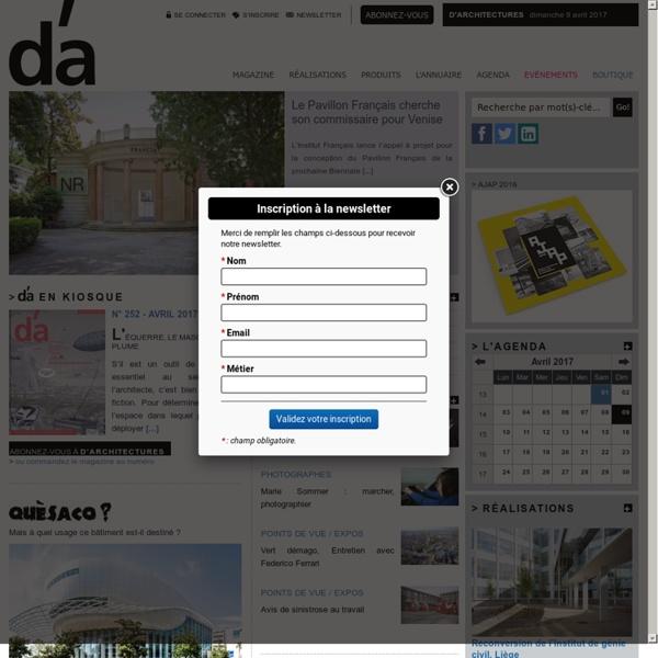 D'architectures - page d'accueil
