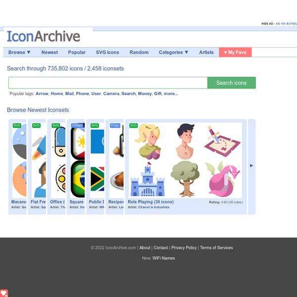 Icon Archive - Search 582,534 free icons, desktop icons, download icons, social icons, xp icons, vista icons