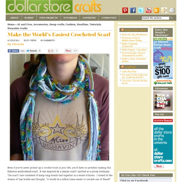 Make the World's Easiest Crocheted Scarf