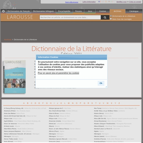 Dictionnaire de la litterature