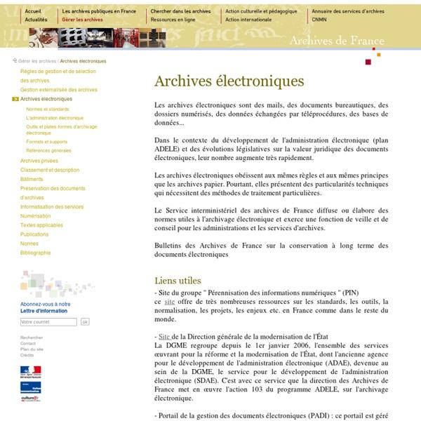 Archives électroniques