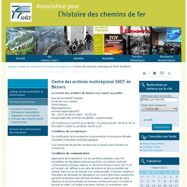 Archives de la SNCF