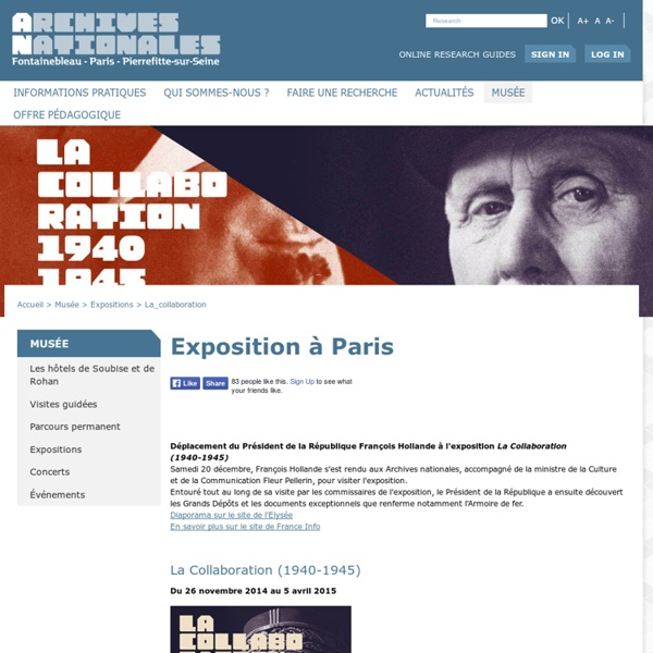 Archives nationales (France), La collaboration