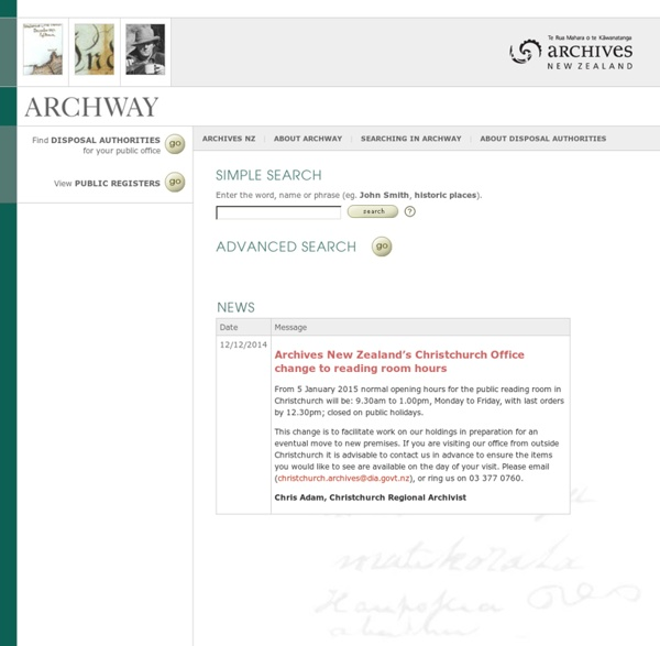 Archives NZ Service Records