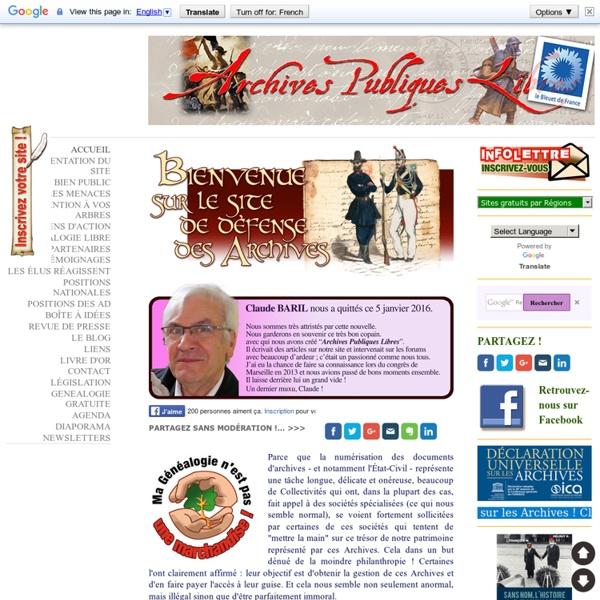Archives publiques libres et gratuites - Site Jimdo de archivespubliqueslibres!
