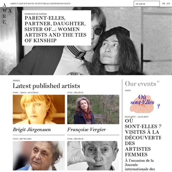 AWARE — Archives of Women Artists Research & Exhibitions