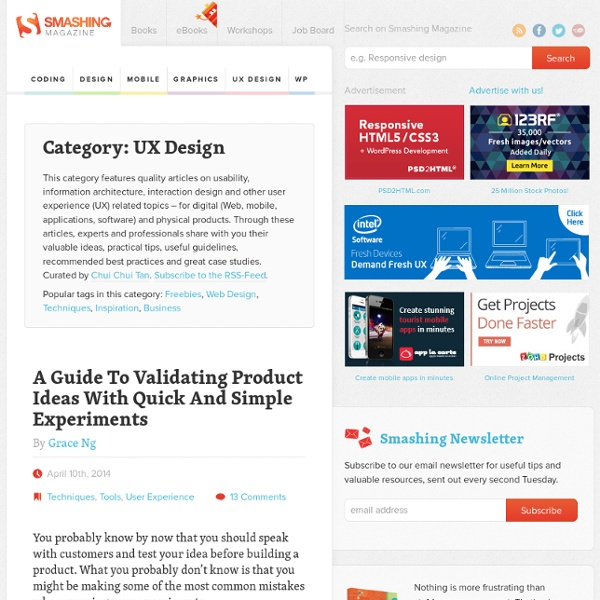 Smashing UX Design — Usability, Psychology and Information Architecture