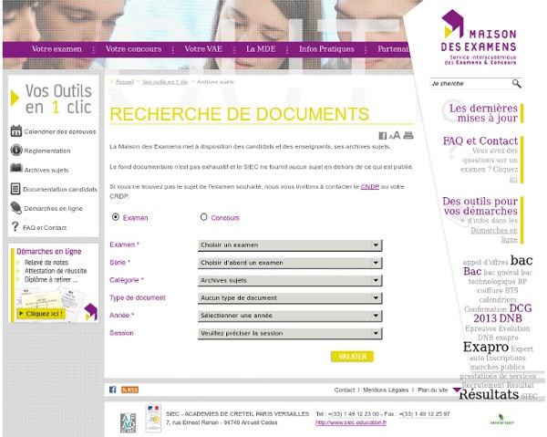 Archives sujets – vos outils en 1 clic – maison des examens