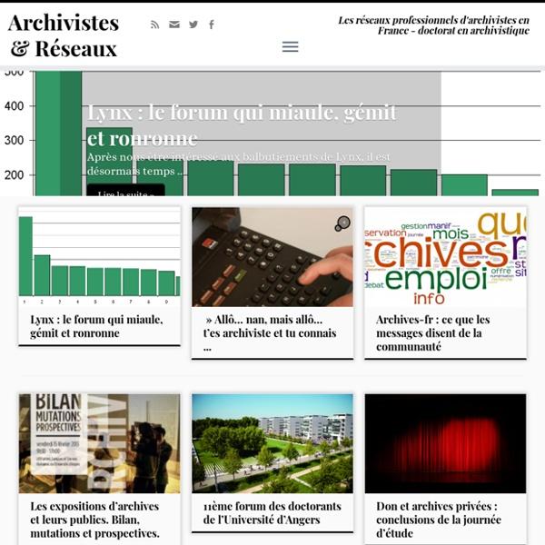 Archivistes et Réseaux