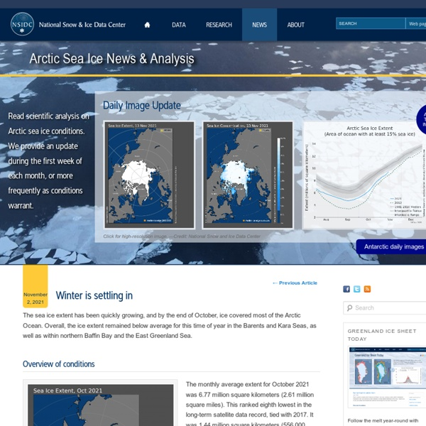 Sea ice data updated daily with one-day lag