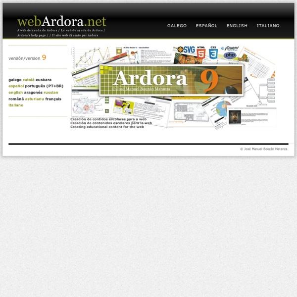 Ardora - création d'exercices interactifs