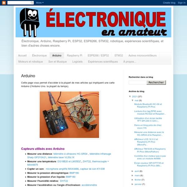 Électronique en amateur: Arduino