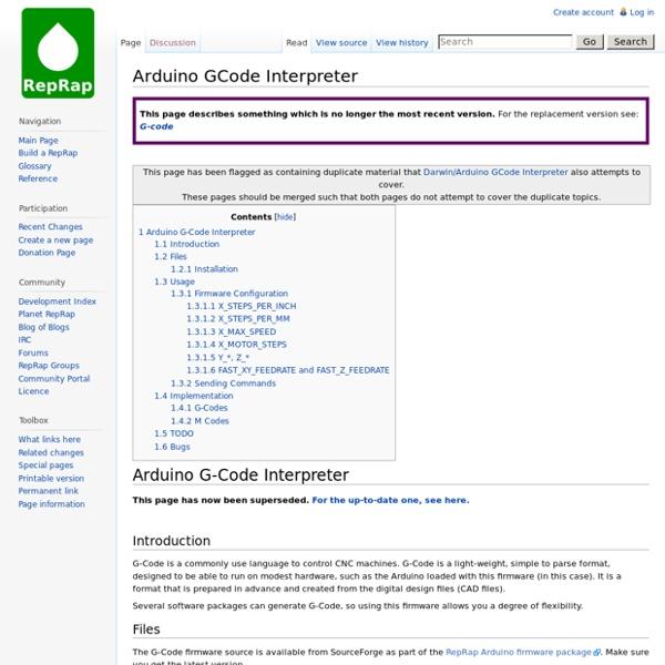 Arduino GCode Interpreter