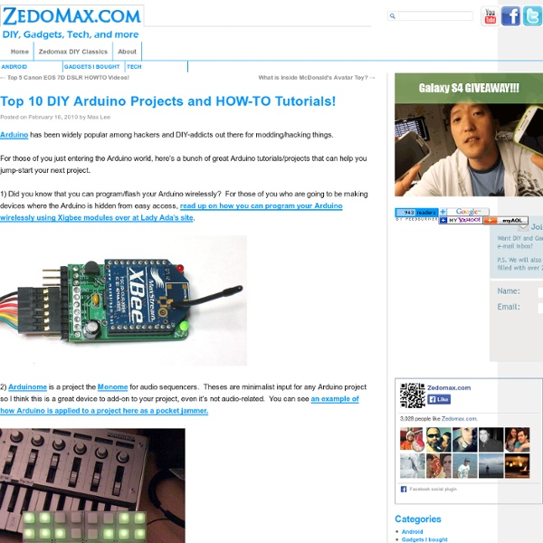 Top 10 DIY Arduino Projects and HOW-TO Tutorials! | Pearltrees