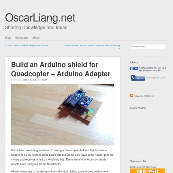 Build an Arduino shield for Quadcopter - Arduino Adapter