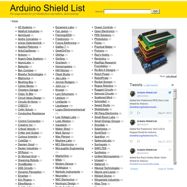 Arduino Shield List
