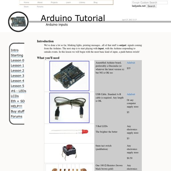 Arduino Tutorial - Lesson 5