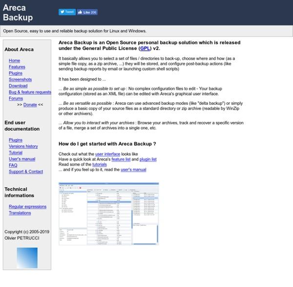 Areca Backup - Official Website