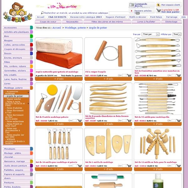 Argile de potier : Modelage, poterie