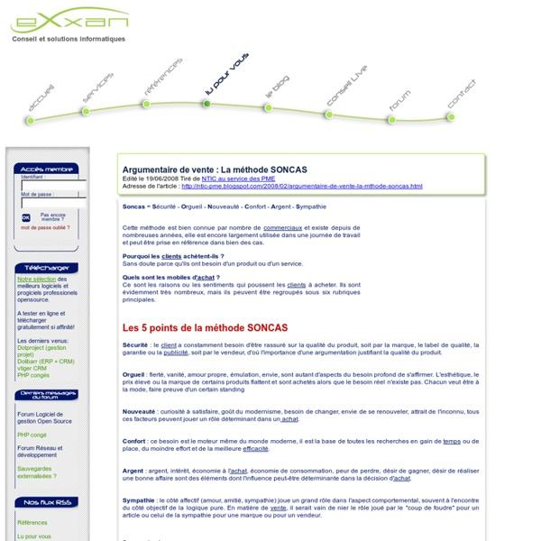 Argumentaire de vente : La méthode SONCAS