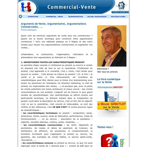 Arguments de Vente, Argumentaires, Argumentations Commerciales, ...