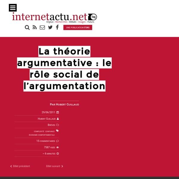 La théorie argumentative : le rôle social de l'argumentation