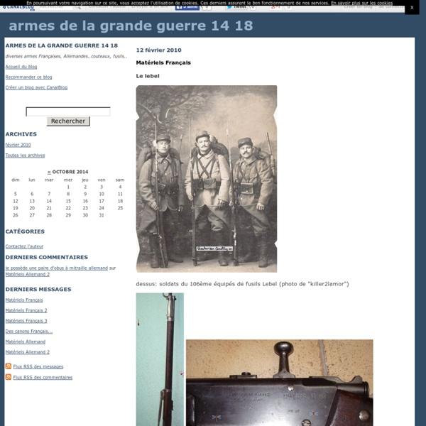 Armes de la grande guerre 14 18