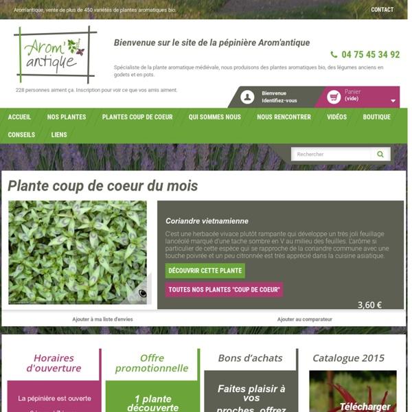 Plantes aromatiques bio et plantes aromatiques médiévales
