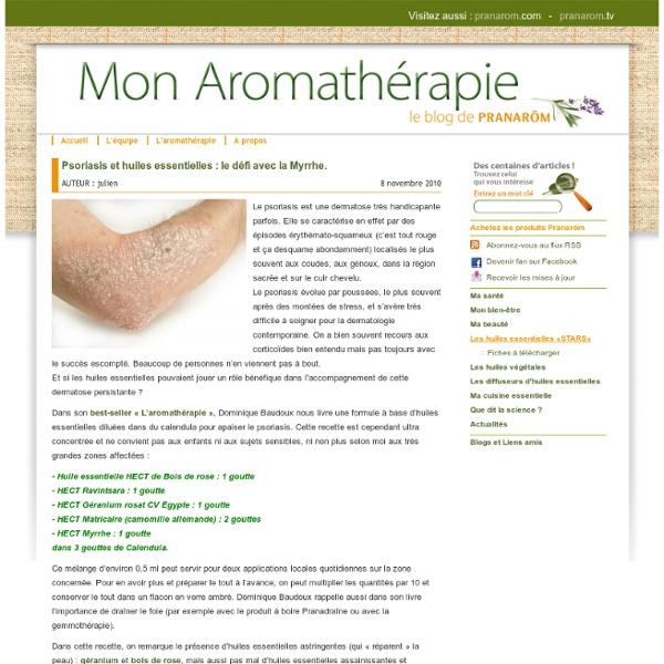 Psoriasis et huiles essentielles : le défi avec la Myrrhe.