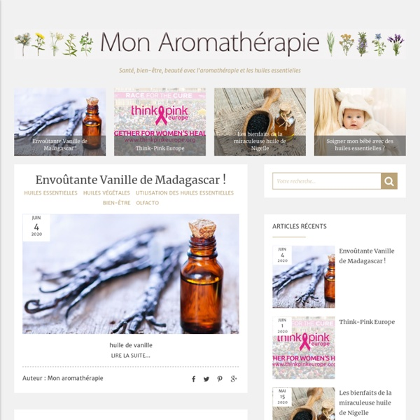 Mon aromatherapie