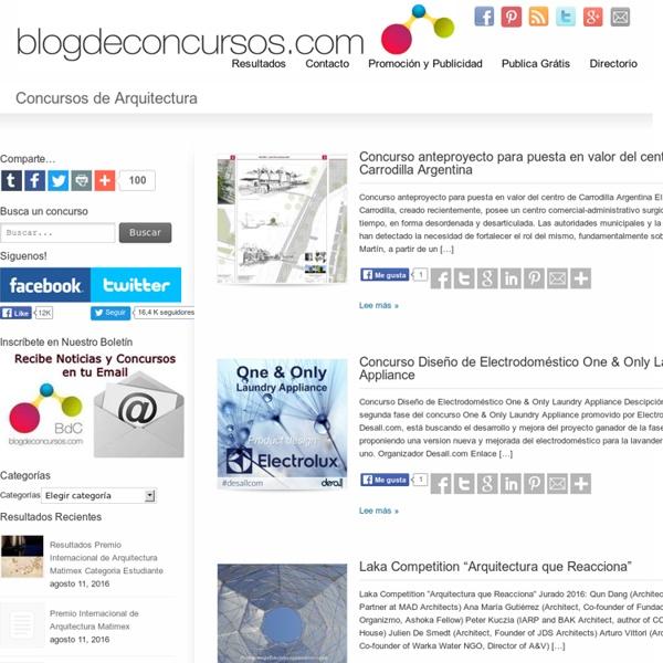 Concursos de Arquitectura - Blog de Concursos para arquitectos