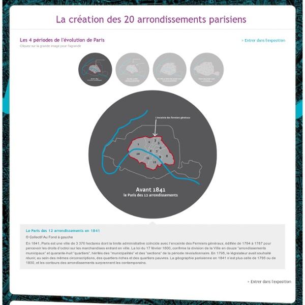 La création des 20 arrondissements Parisiens - Exposition virtuelle de Paris
