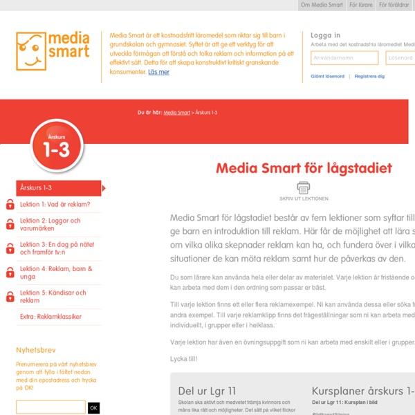 Årskurs 1-3 - Media Smart