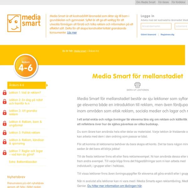Årskurs 4-6 - Media Smart