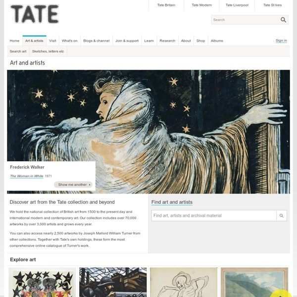 Tate, Londres - la collection d'oeuvres