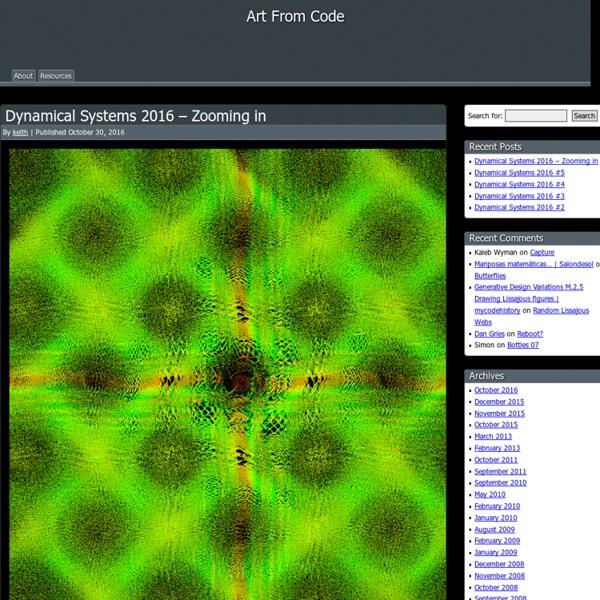 Art From Code : Generative Graphics