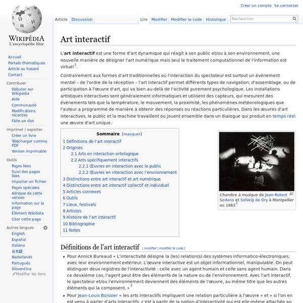 Art interactif