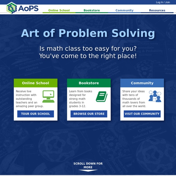 Art of Problem Solving (AoPS) | Pearltrees