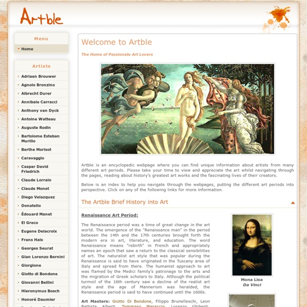 Artble: The Home of Passionate Art Lovers