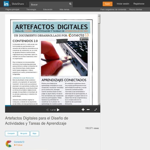 Artefactos Digitales para el Diseño de Actividades y Tareas de Apre...
