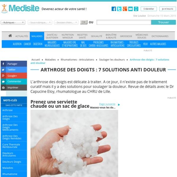 Arthrose des doigts : 7 solutions anti douleur