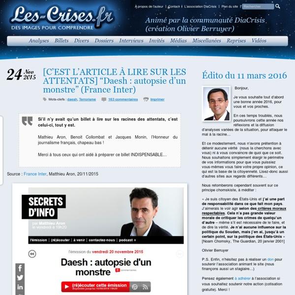 MERCI France Inter, et chapeau au journalistes qui osent détruire la propagande officielle !!!