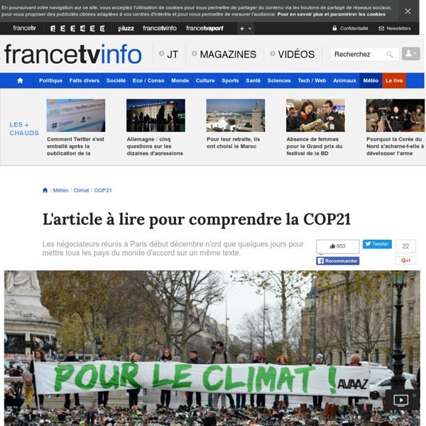L'article à lire pour comprendre à quoi sert la COP21
