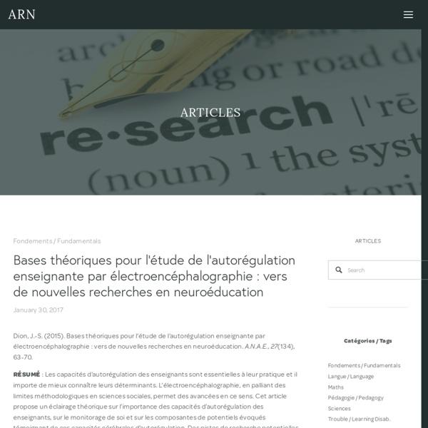 Articles — ARN