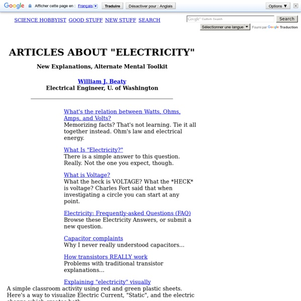 """Articles on """"Electricity"""""""