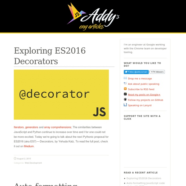 jQuery & JavaScript Articles For The Community