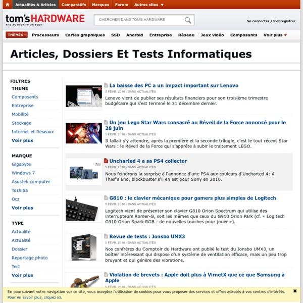 Articles, dossiers et tests informatiques